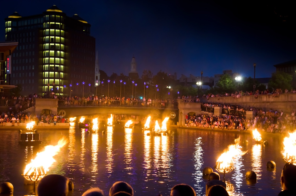 The Joe Andruzzi Foundation attends the Waterfire Event in Providence, Rhode Island