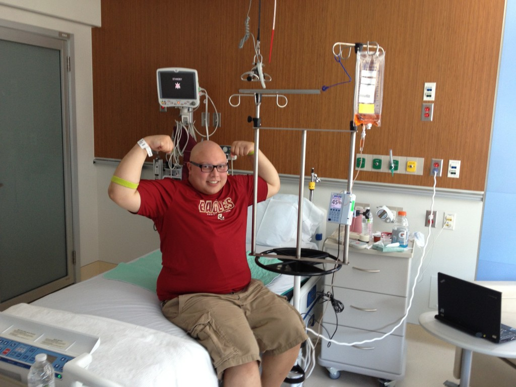 cancer patient Will Issa showing strength at hospital- Joe Andruzzi Foundation