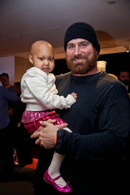 Celebrity and child cancer patient at gala - Joe Andruzzi Foundation