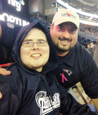 Joe Andruzzi and cancer patient Devin Depauw - Points for Patients Campaign