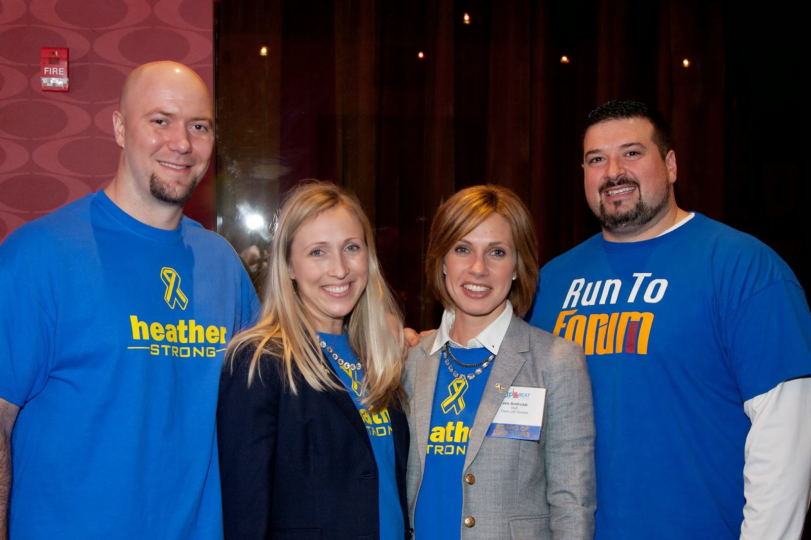 Joe & Jen Andruzzi with Team JAF supporters