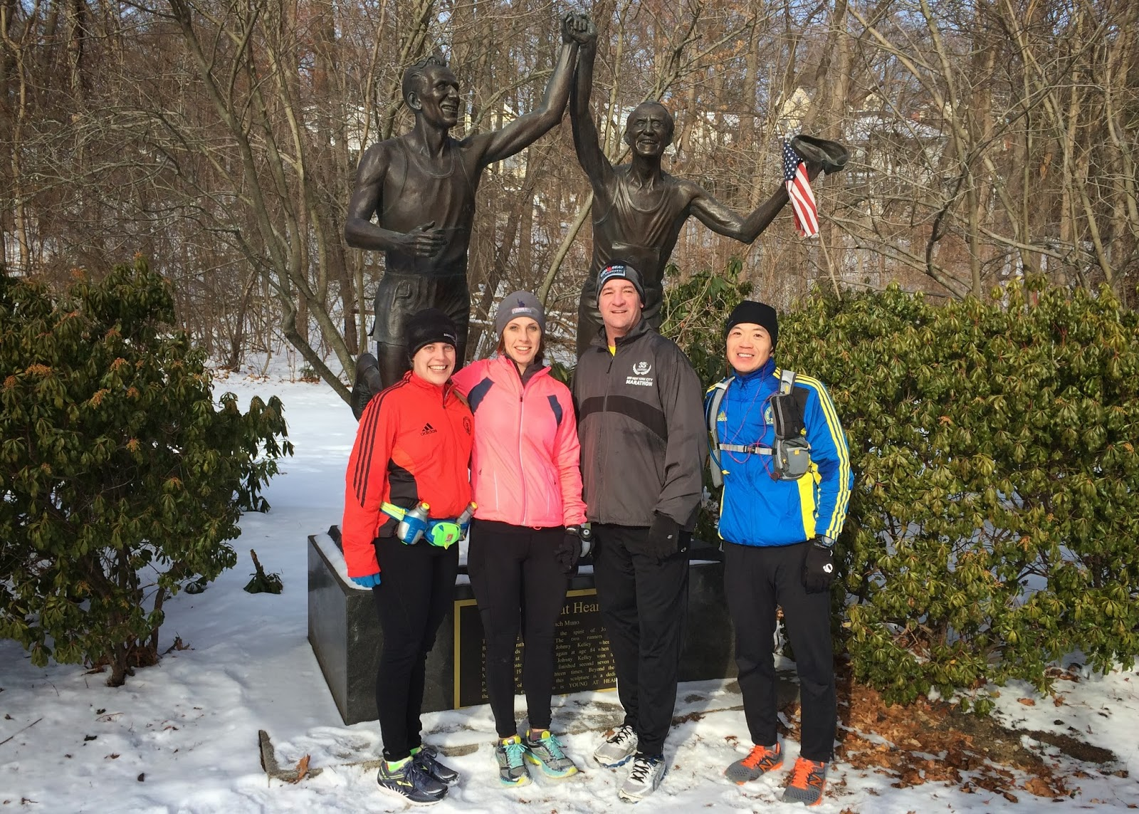 Team JAF runners training for 118th Boston Marathon
