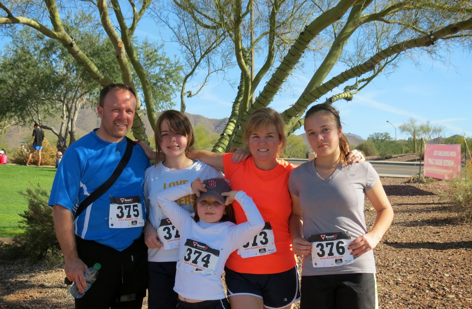 Team JAF Member Kirsten Holmes with Family
