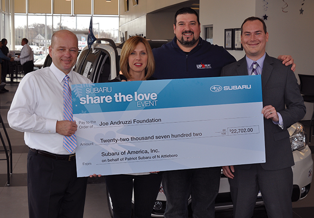 Subaru Share the Love 2015 Joe Andruzzi Foundation