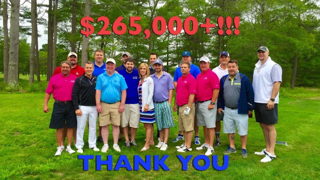 Golf teams at 7th Annual Joe Andruzzi & Friiends Golf Tournament