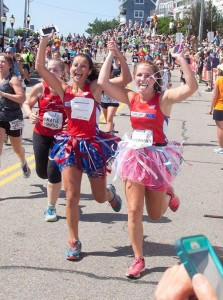 2015 Falmouth Road Race  runners in Tutus