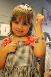 Girl wearing alex and ani braclet at JAF launch party