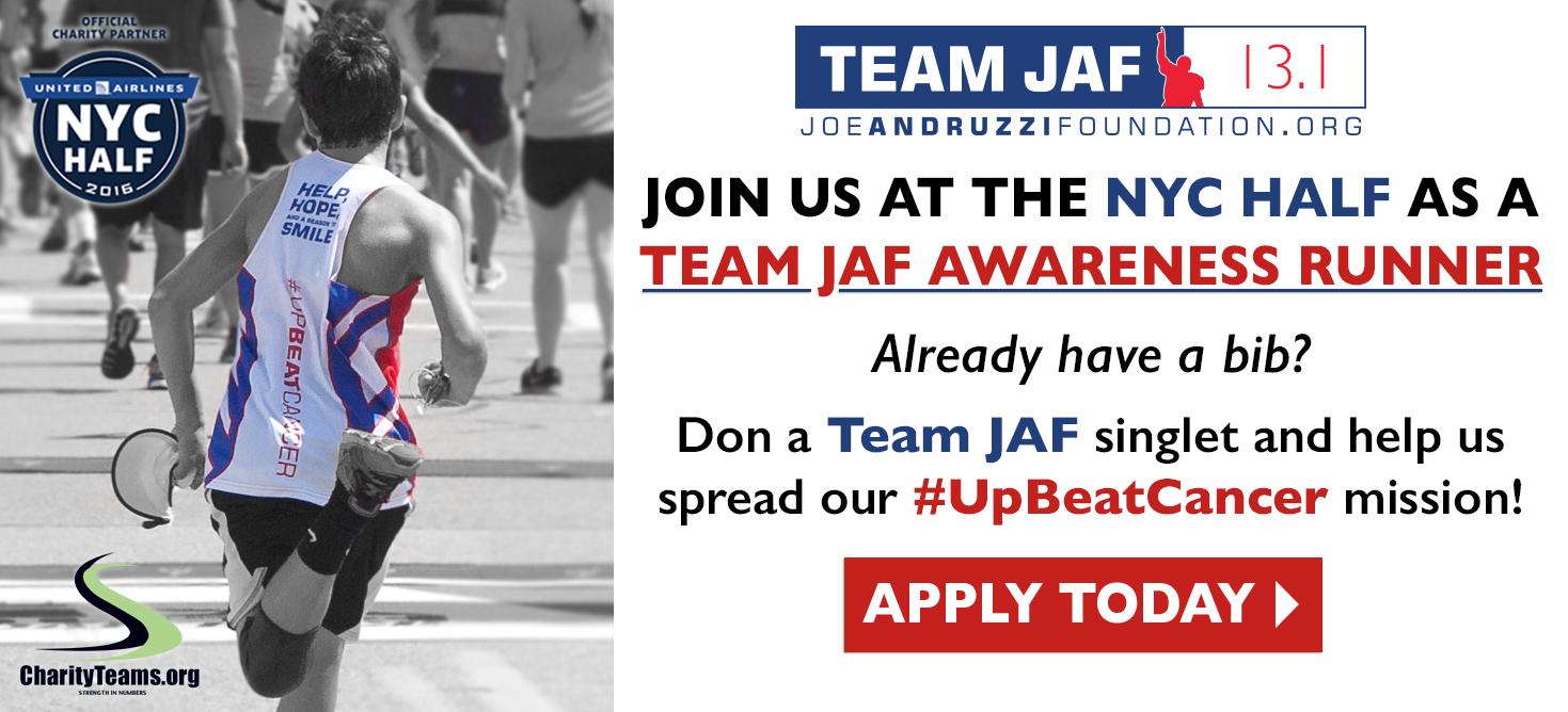 2016 NYC Half Marathon Ambassador Team JAF
