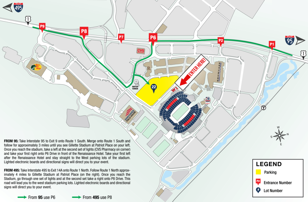 JAF Gala Parking & Entrance Map