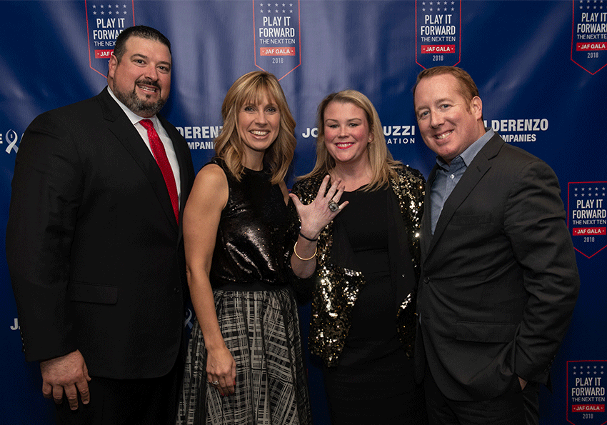 Jen and Joe Andruzzi with Amy and Michael Deveau