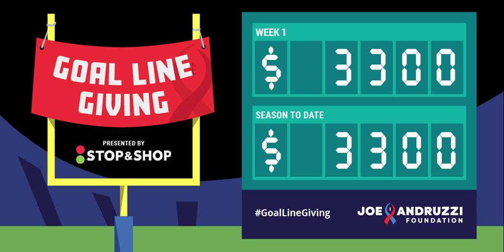 Week 1 2019 Goal Line Giving Stop & Shop JAF Scoreboard