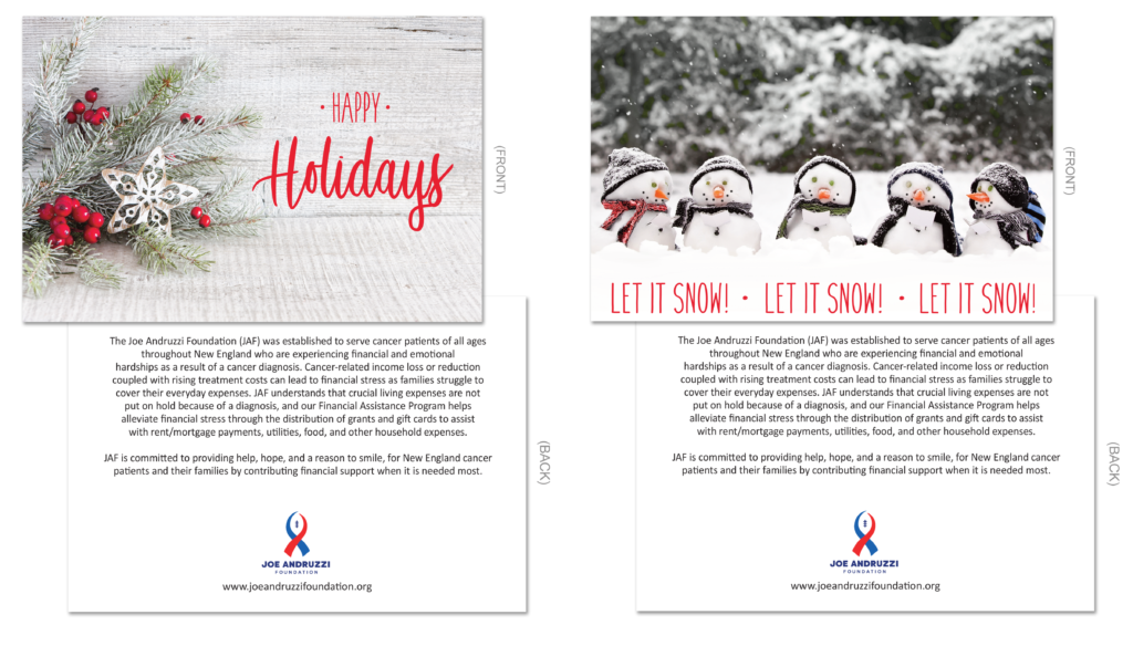 Examples of the JAF Holiday Card Options
