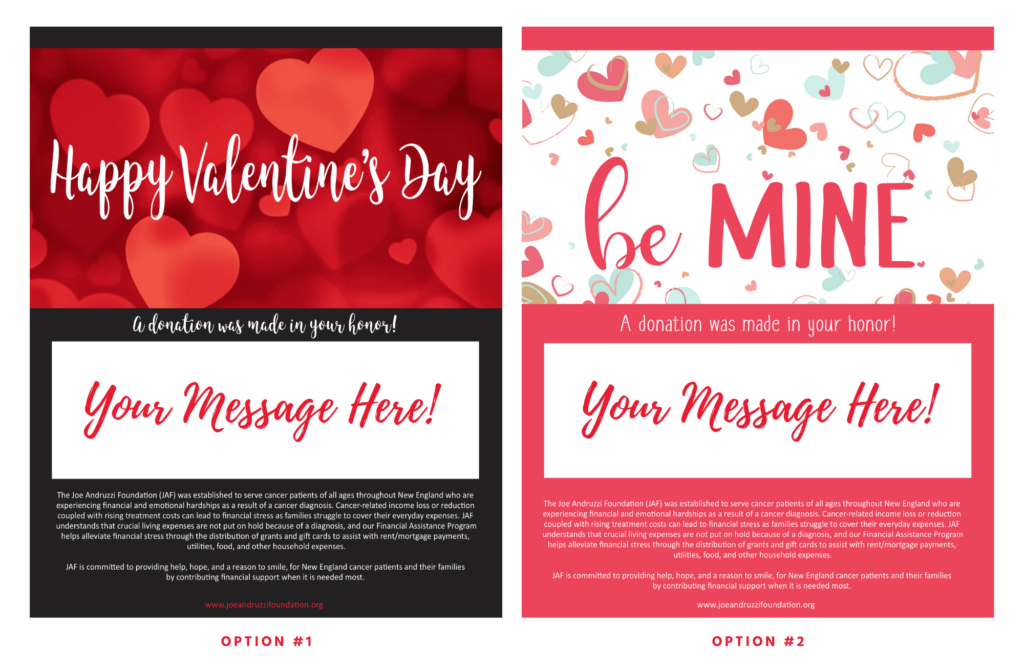 JAF Valentine's Day 2020 eCard Options