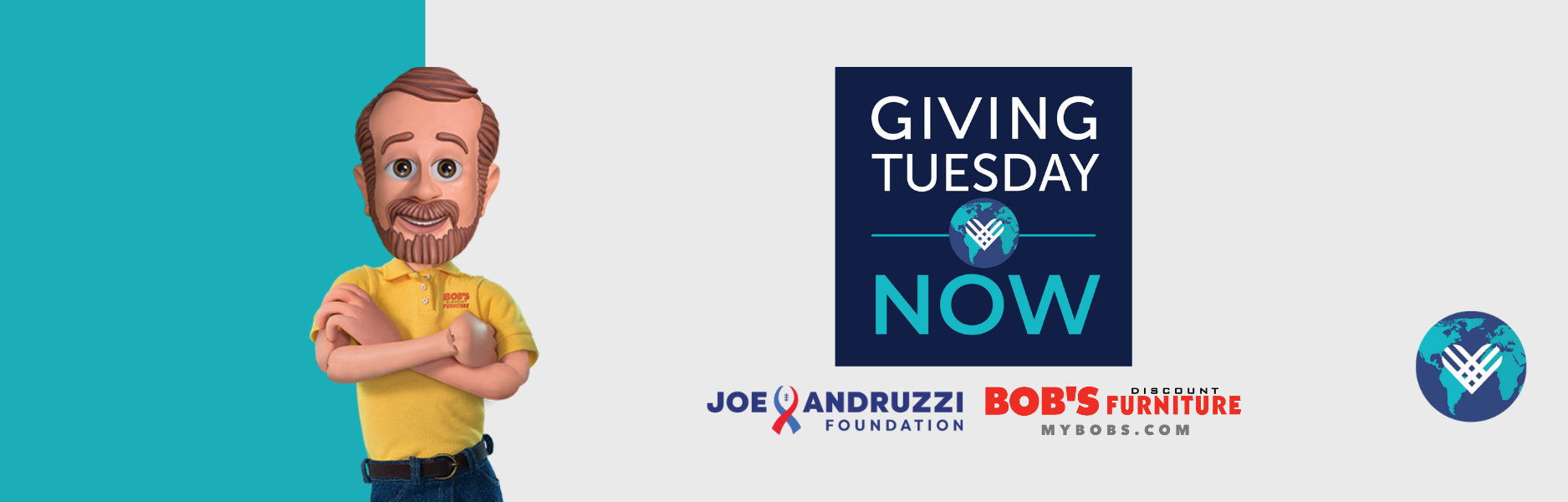 GivingTuesday Now, Presented By Bob's Discount Furniture